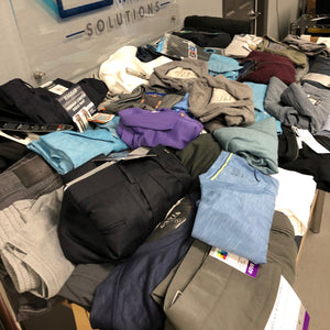 60 PC Mixed Resellers Lot- All Men's Hagger, Orvis, Boston Traders, Calvin Klein, 32 degree, Weatherproof, Urban Star & More!