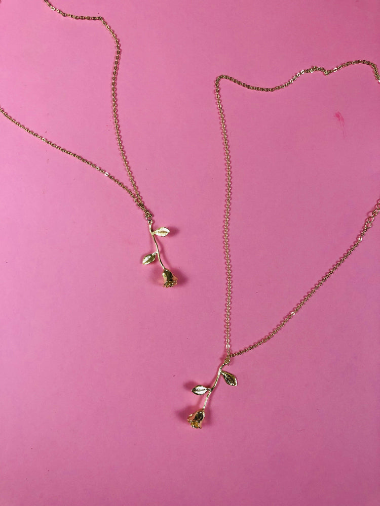 DAINTY ABBY ROSE NECKLACE - Glo Babe