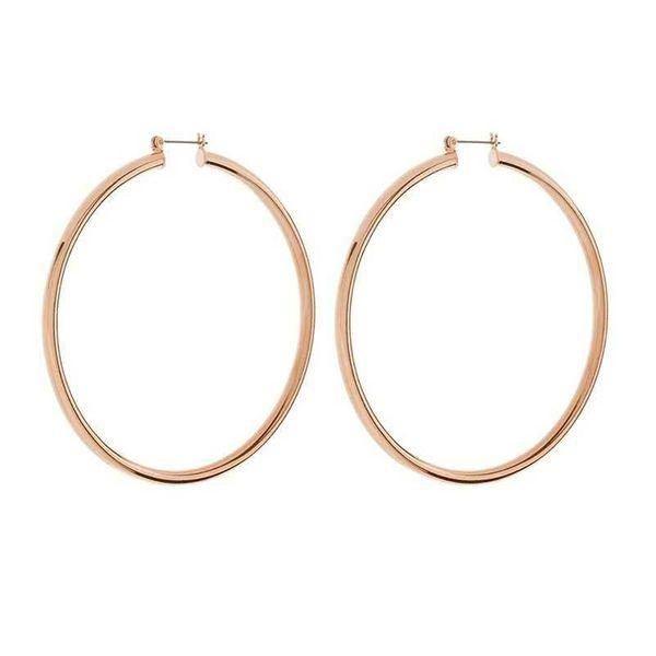 Load image into Gallery viewer, Gold Large Baddie Hoops - Glo Babe
