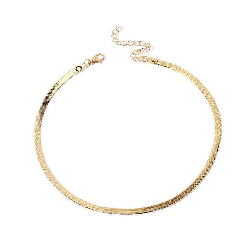 GLOBASICS Gold Flat Clavicle Necklace - Glo Babe