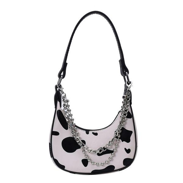 COW PRINT Y2K HOBO BAG