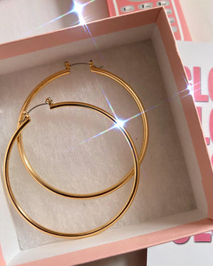 Gold Large Baddie Hoops Glo Babe