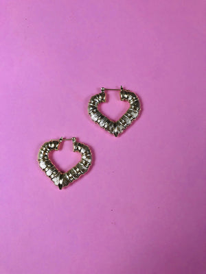 MINI LOVE HEART BAMBOO EARRINGS - Glo Babe