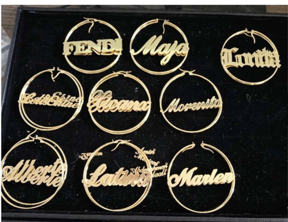 BADDIE HOOPS PERSONALIZED - Glo Babe