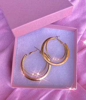 Load image into Gallery viewer, Basic AF Gold Hoops
