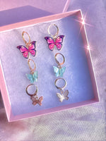 Butterfly Gift Box Earrings 3Pairs 🦋💕