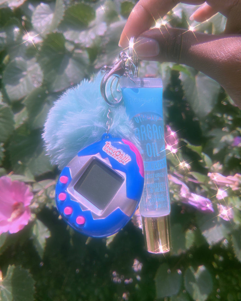 Load image into Gallery viewer, Co 90's Babe Tamagotchi Lipgloss Key Chain BUNDLE✨✨ Glo Babe