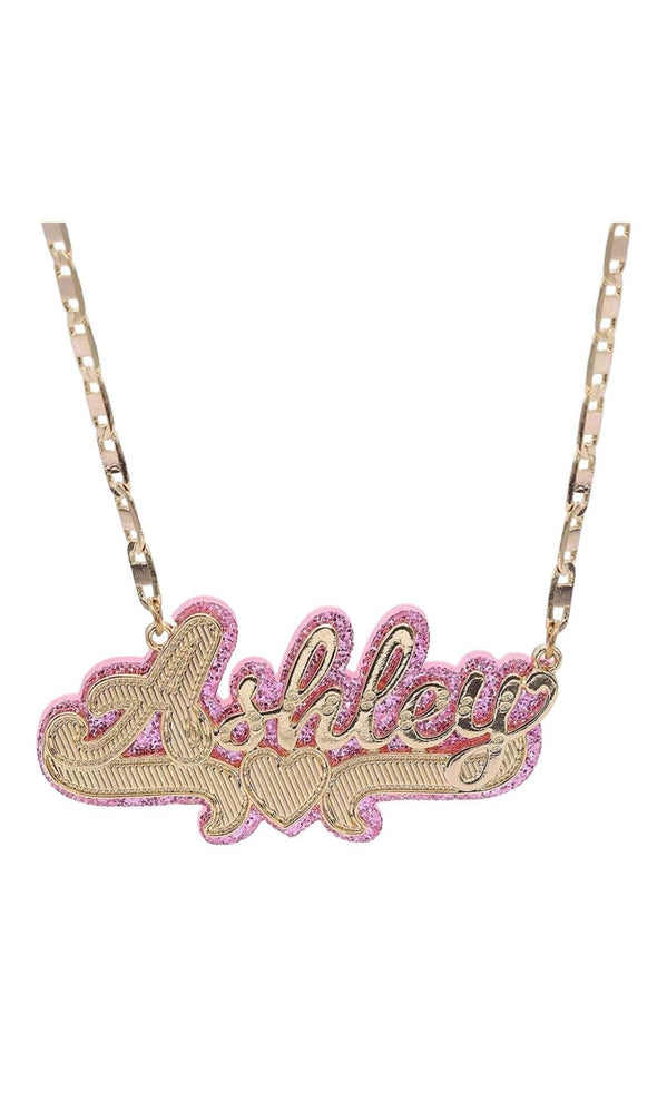 90'S BABE CANDY DOUBLE PLATED NAMEPLATE - Glo Babe