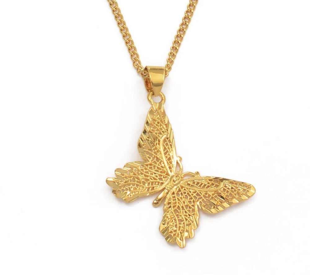 "18K Gold Filled Butterfly Necklace ""Flutter"""
