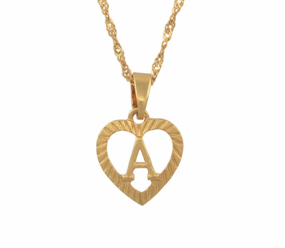 HEART INTIAL LUXE Necklace - Glo Babe