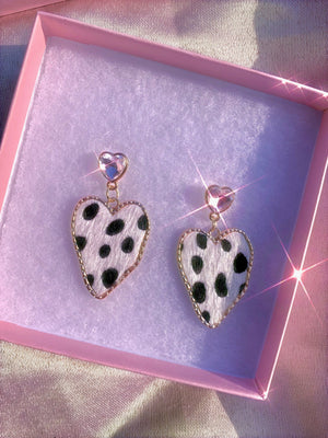 On the Run Leopard Print Earrings .925 - Glo Babe