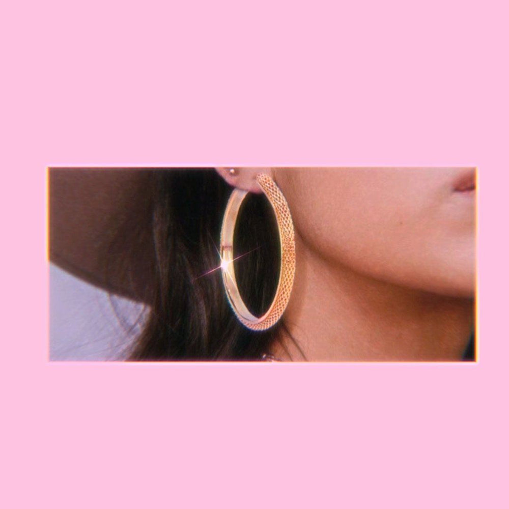 Load image into Gallery viewer, Boho Babe  Gold Hoops - Glo Babe