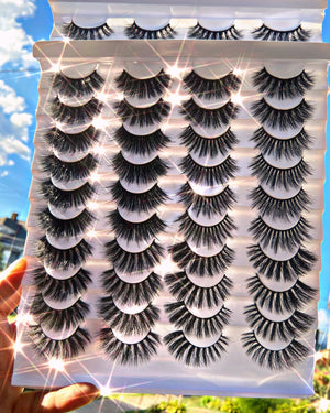 Load image into Gallery viewer, Mean Girl Lash Pack 20 Pairs - Glo Babe