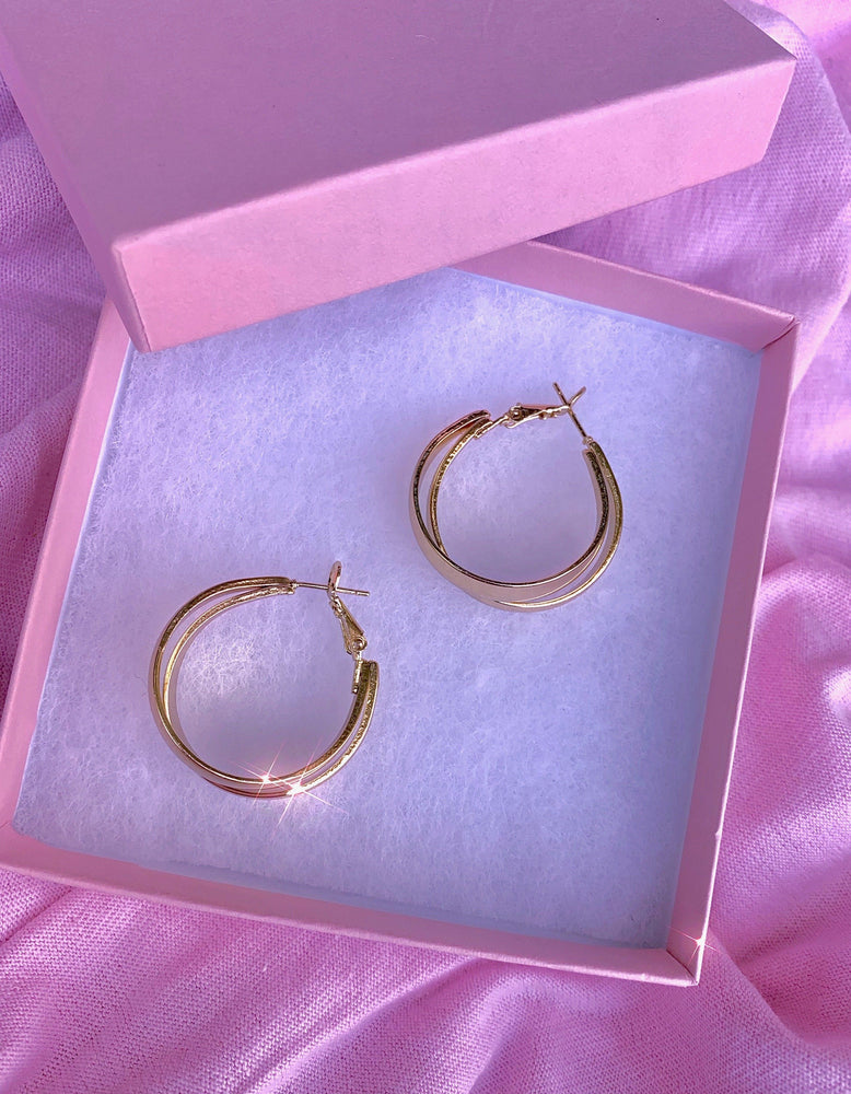 Load image into Gallery viewer, Mini Basic AF Gold Hoops