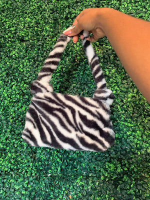 Zebra Fur Mini Handbag 🦓