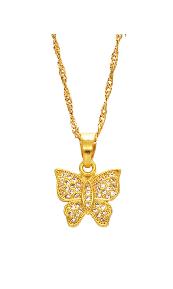 Butterfly Dreams Cubic Zirconia Necklace
