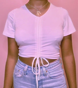 Don't Rush Cropped Top COZY Glo Babe S WHITE
