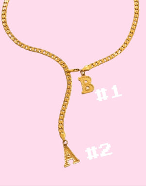 Double Layer Babe INTIAL LUXE Necklace - Glo Babe