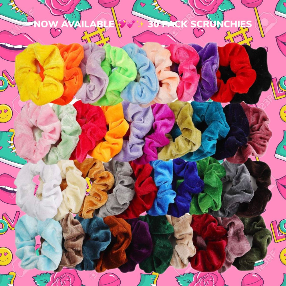 90's Babe 30 Assorted SCRUNCHIES ✨✨ Glo Babe