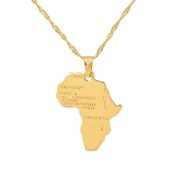 GLO BABE AFRICA MAP PENDANT NECKLACE✨✨ - Glo Babe