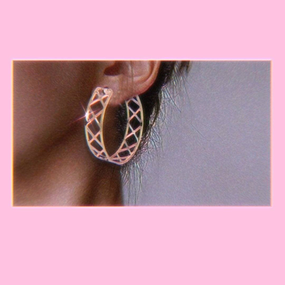 Cross X Me Out Gold Hoops