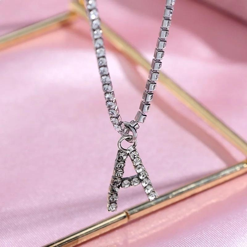 Load image into Gallery viewer, Letter Glitz Initial Necklace - Glo Babe