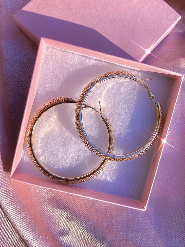 Load image into Gallery viewer, Boho Babe Gold Hoops Glo Babe