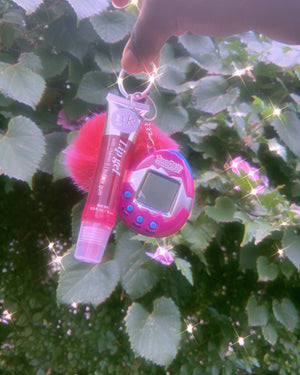Load image into Gallery viewer, 90's Babe Tamagotchi Lipgloss Key Chain ✨✨ - Glo Babe