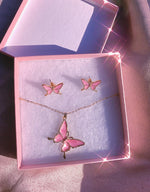 Flutter Me Gift Set Earrings + Necklace
