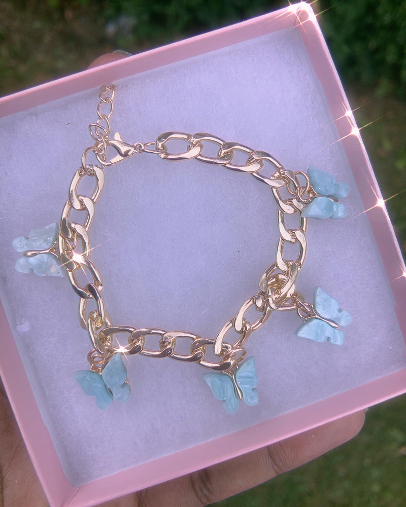 Load image into Gallery viewer, BLUE BUTTERFLY  BABE BRACELET 🦋 - Glo Babe