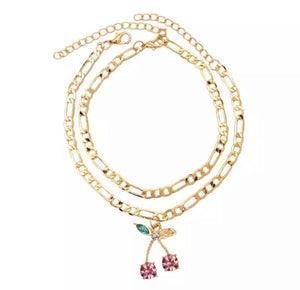 Load image into Gallery viewer, Cherry Blossom Anklet Set - Glo Babe