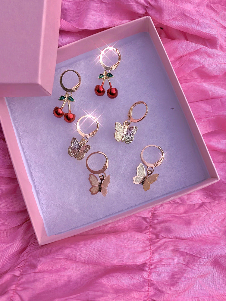 Cherry Butterfly Babe ❤️ Earring Set Glo Babe