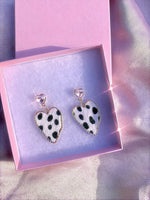 On the Run Leopard Print Earrings .925
