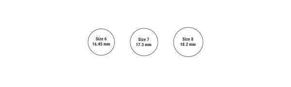 soko ring size chart on MARNE