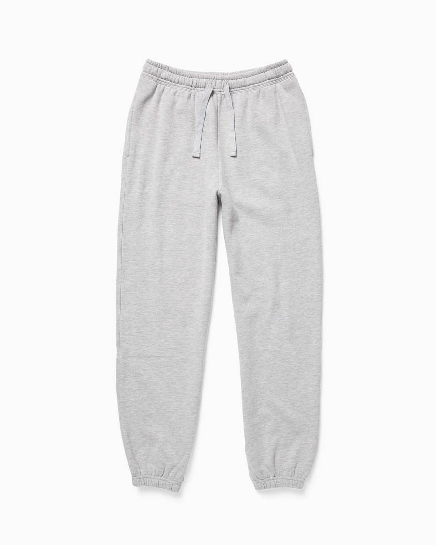 Women's Recycled Fleece Sweatpant in Heather Grey | Richer Poorer