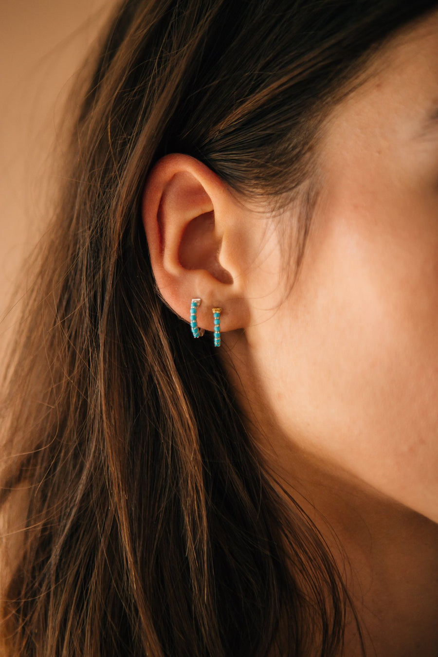 KARMA HOOP  EARRINGS turquoise | Sierra Winter Jewelry