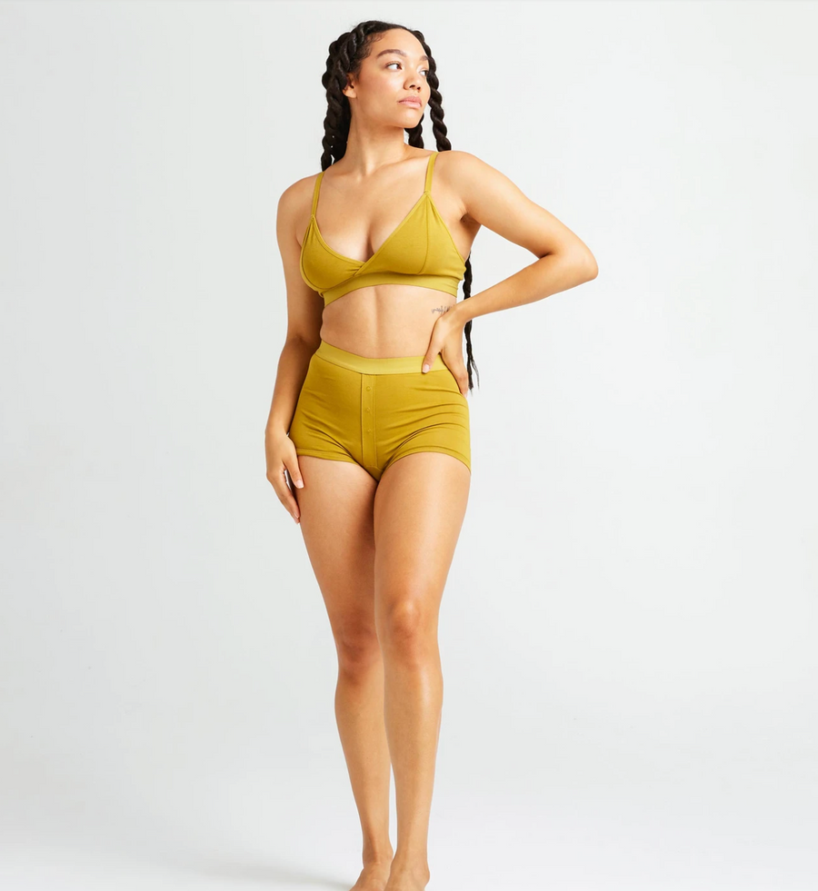Women's Boxer Brief in Golden Verde