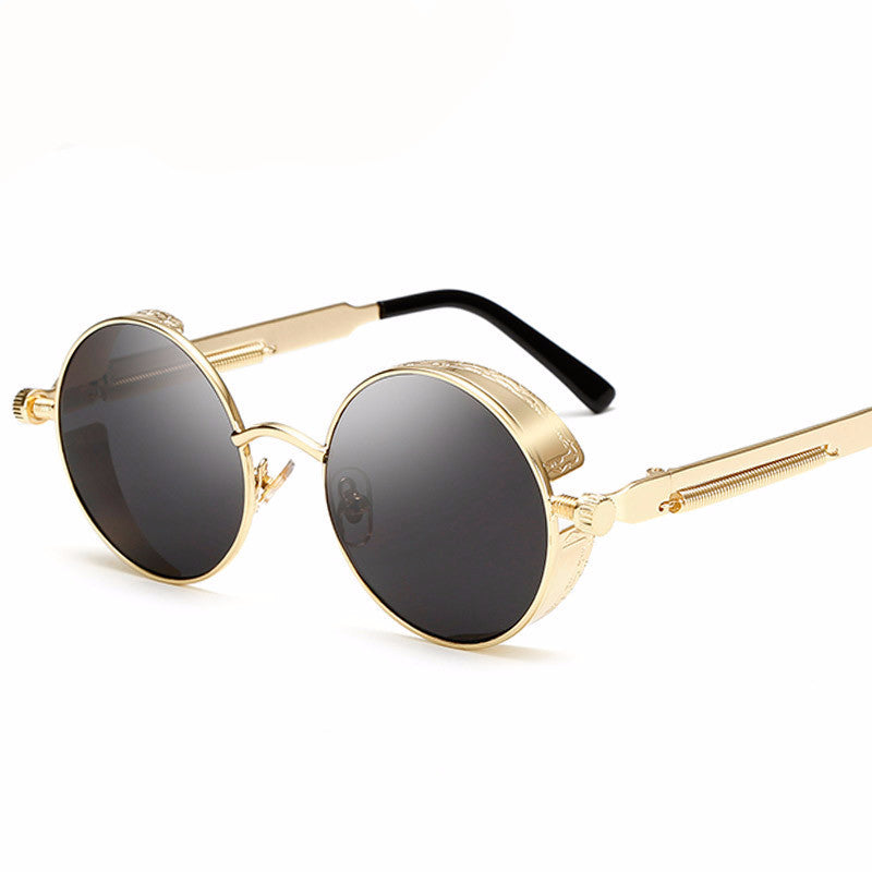 Gothic Steampunk vintage Round Sunglasses Men/Women