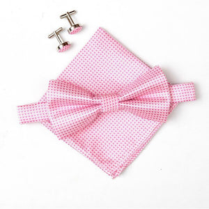 bowties, hanky, cufflinks set for Men