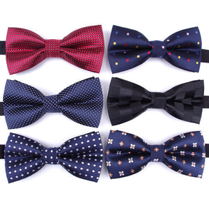 formal dotted, printed bowtie For Men