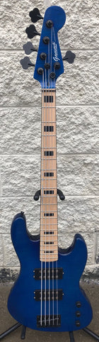 GAMMA [SOLD] Custom H519-01, Kappa Model 5 String, Quilted Flame Blue