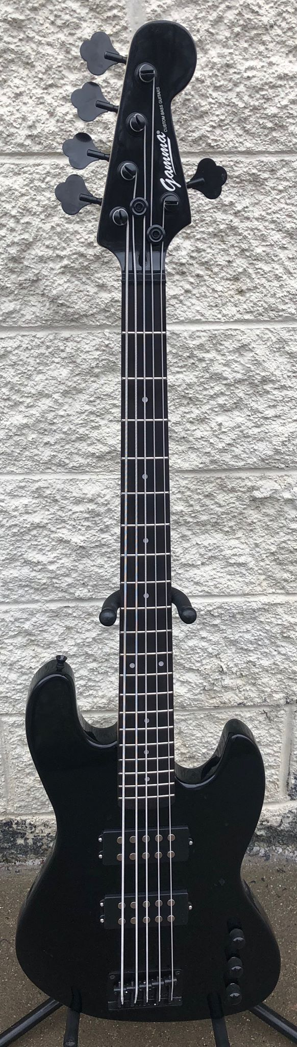 GAMMA [SOLD] Custom H519-03, Kappa Model 5 String, Gloss Ebony
