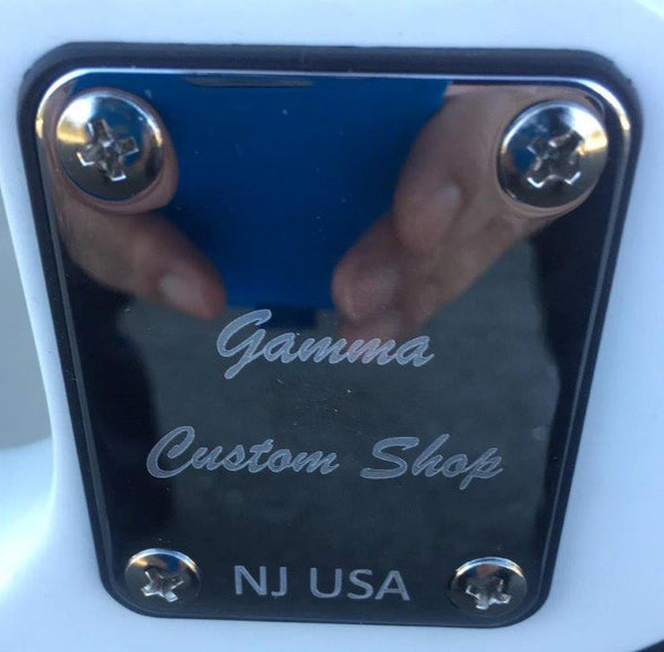 GAMMA [SOLD] Custom J17-02, Beta Model, Bruce Skull Bass, Polar White