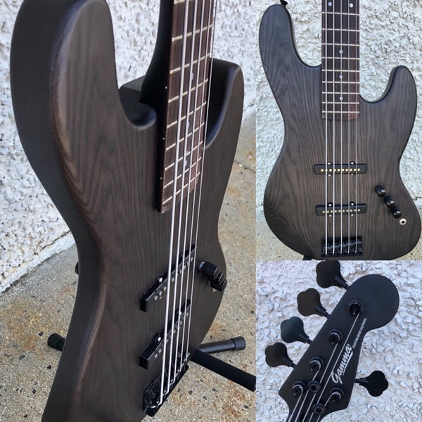 GAMMA [SOLD] Custom J520-01, 5-String Beta Model, Transparent Black Ash