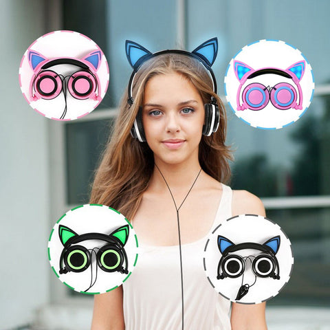 LED Kitty Headphones