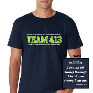 TEAM 413: Men's SS Tech Tee - Navy