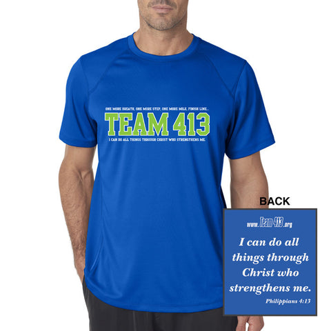 TEAM 413: Men's SS Tech Tee - Royal