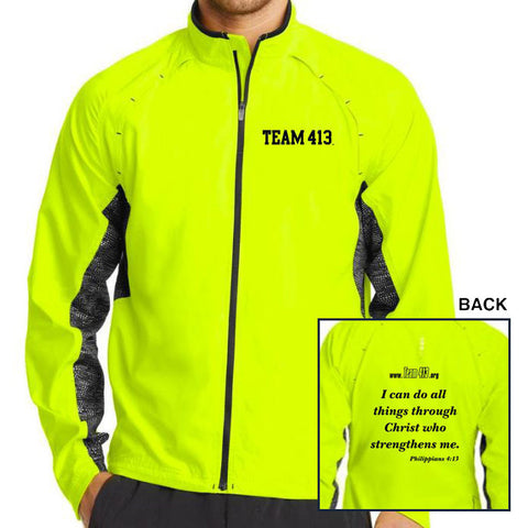 TEAM 413: Men's OGIO Full Zip Jacket - Pace Yellow