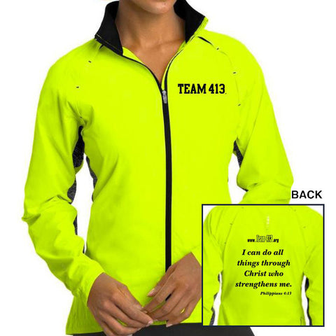 TEAM 413: Women's OGIO Full Zip Jacket - Pace Yellow