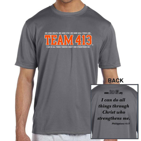 TEAM 413: Men's SS Tech Tee - Gravel